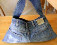 džínová kabelka
