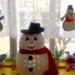Vánoční dekorace – plastový sněhulák