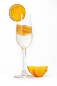 šampaňské s pomeranči
