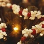 Brusinkovo – popcornový vánoční řetěz