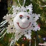 Háčkované, originální vánoční ozdoby