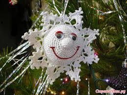 háčkovaná vánoční ozdoba