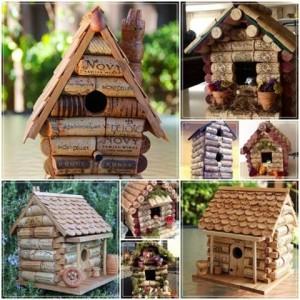 Korkový dům pro ptáčky
