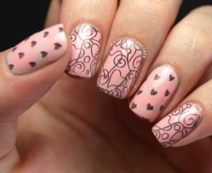 Valentýnské nehty