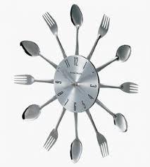 nástěnné hodiny z jídelního příboru