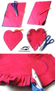 postup při výrobě valentýnského srdce