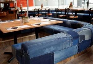 sedačka z jeans