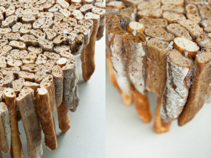 stolek vyrobený z chleba