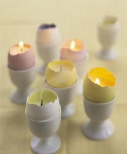 vajíčka se svíčkou