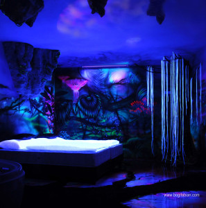 svítící pokoj