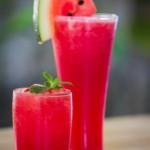 Melounový šumivý koktejl