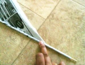 rolování papíru