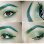 zelené obočí